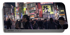 Portable Battery Charger featuring the photograph Shibuya Crossing, Tokyo Japan 3 by Perry Rodriguez