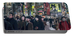 Portable Battery Charger featuring the photograph Shibuya Crossing, Tokyo Japan Poster 2 by Perry Rodriguez