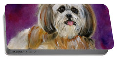 Shih-tzu Puppy Portable Battery Charger by Jenny Lee