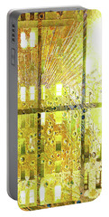 Portable Battery Charger featuring the mixed media Shine A Light by Tony Rubino