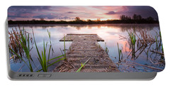 Shinewater Lake Sunrise Portable Battery Charger