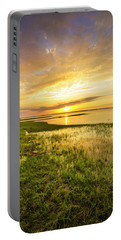 Shinnecock Bay Wetland Sunset Portable Battery Charger
