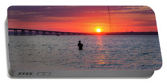 Shinnecock Fisherman At Sunset Portable Battery Charger