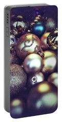 Shiny Christmas Baubles Portable Battery Charger