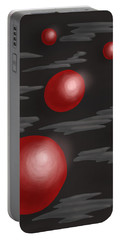Shiny Red Planets Portable Battery Charger