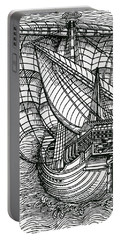 Ship From The Time Of Christopher Columbus Portable Battery Charger