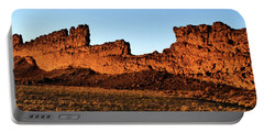 Shiprock Lava Wall 003 Panorama Portable Battery Charger by George Bostian