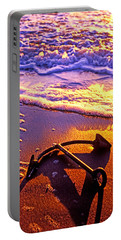 Ships Anchor On Beach Portable Battery Charger