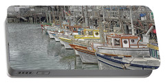 Ships In The Harbor Portable Battery Charger