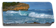 Shipwreck Beach Shorebreaks 2 Portable Battery Charger by Marie Hicks