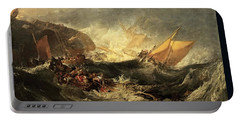 Shipwreck Of The Minotaur Portable Battery Charger by J M William Turner