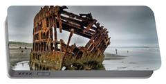 Shipwreck On Oregon Coast Portable Battery Charger