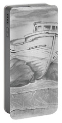 Shipwreck Portable Battery Charger by Terry Frederick