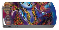 Shiva Playing The Drums Portable Battery Charger