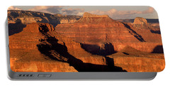 Shiva Temple  At Sunset Grand Canyon National Park Portable Battery Charger