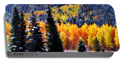 Shivering Pines In Autumn Portable Battery Charger