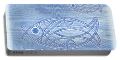 Shoal Of Fish Abstract Portable Battery Charger
