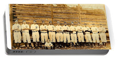 Portable Battery Charger featuring the photograph Shoeless Joe Jackson Age 19 With His Greenville South Carolina Baseball Team 1908 by Peter Gumaer Ogden