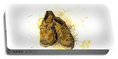 Portable Battery Charger featuring the photograph Shoes by John Stephens