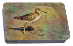Portable Battery Charger featuring the painting Shore Bird Beauty by Deborah Benoit
