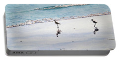 Shore Birds Portable Battery Charger by Mike Robles