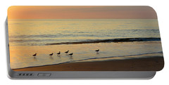 Portable Battery Charger featuring the photograph Shorebirds 9/4/17 by Barbara Ann Bell