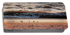Portable Battery Charger featuring the photograph Shorebirds by Lars Lentz