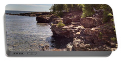Shoreline In The Upper Michigan Portable Battery Charger