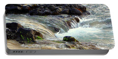 Portable Battery Charger featuring the photograph Shoreline by Lori Seaman