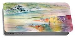 Shoreline Watercolor Portable Battery Charger