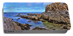 Shores Of Pacific Grove  Portable Battery Charger by Gina Savage