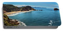 Portable Battery Charger featuring the photograph Short Beach, Oregon by John Hight