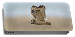 Short-eared Owl Hunting Portable Battery Charger