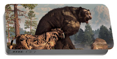 Short-faced Bear And Saber-toothed Cat Portable Battery Charger