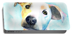 Short Hair White And Brown Dog Portable Battery Charger