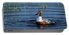 Portable Battery Charger featuring the photograph Shoveler by Jean Noren