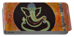 Portable Battery Charger featuring the painting Shri Ganeshay Namah by Sonali Gangane