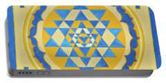 Shri Yantra For Meditation Painted Portable Battery Charger