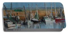 Shrimp Boats Of Darien, Ga Portable Battery Charger