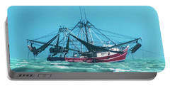 Portable Battery Charger featuring the photograph Shrimping On A Windy Day In Key West by Bob Slitzan