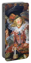 Shrovetide Revellers The Merry Company Portable Battery Charger
