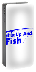 Shut Up And Fish Blue Portable Battery Charger