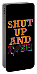 Shut Up And Fish Colorful Portable Battery Charger