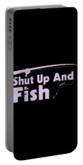 Shut Up And Fish Purple Portable Battery Charger