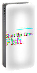 Shut Up And Fish Rainbow Portable Battery Charger