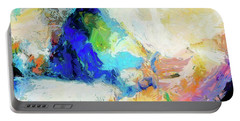 Portable Battery Charger featuring the painting Shuttle by Dominic Piperata