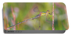 Shy Emerald Damselfly - Lestes Barbarus Portable Battery Charger