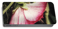 Shy Hollyhock Portable Battery Charger by Karen Stahlros