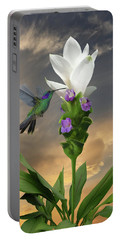 Siam Sparkling Curcuma And Hummingbird Portable Battery Charger