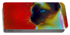 Siamese Cat 10 Painting Portable Battery Charger by Svetlana Novikova